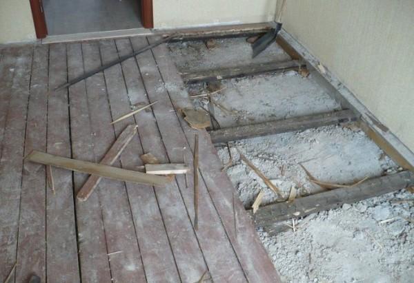 Основание непригодное для укладки напольной плитки