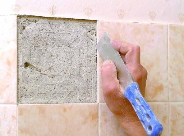 Несколько плиток удаляются вручную