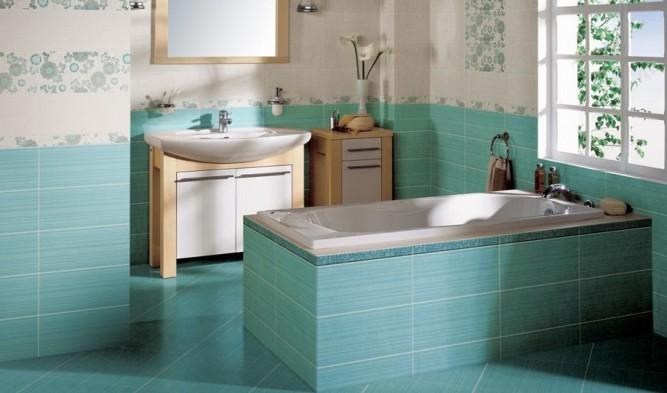 Кафельная плитка в интерьере ванной комнаты