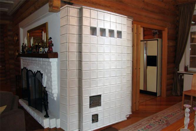 Печь облицованная термостойкой плиткой
