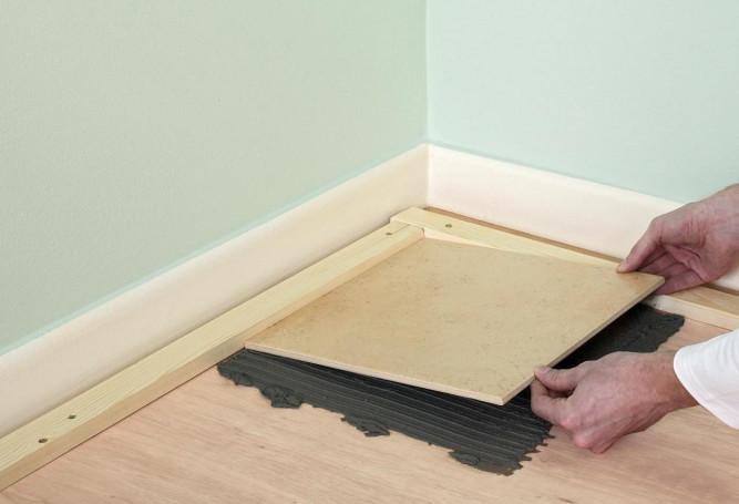 Укладке плитки на деревянный пол