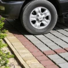 Технология укладки тротуарной плитки под автомобиль