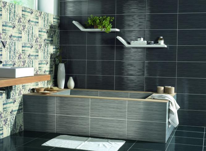 Одинаковый материал для пола и стен ванной