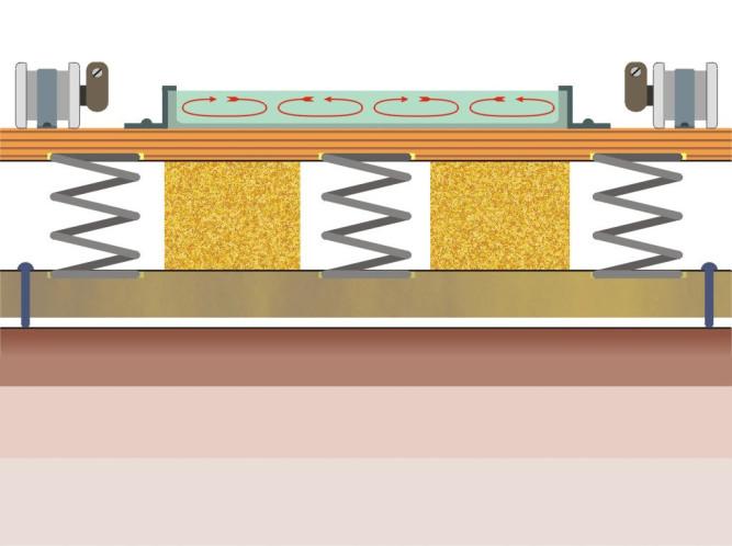Вибростол для изготовления плитки