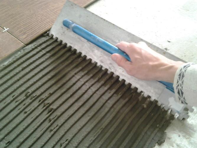 Цемент с пластификаторами - вид клея для керамогранита