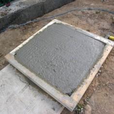 Приготовление раствора для тротуарной плитки