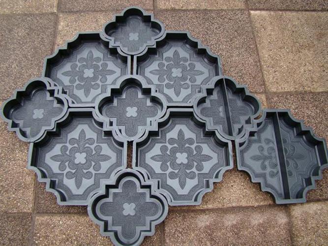 Фигурные полиуретановые формы для тротуарной плитки
