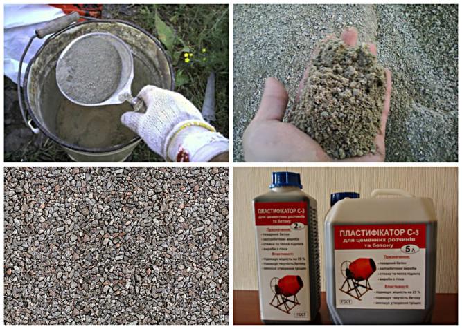 Основные компоненты для тротуарной плитки