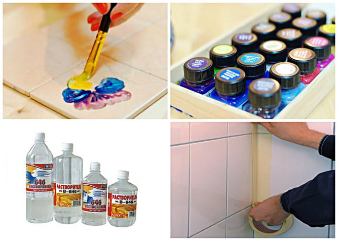 Можно ли покрасить кафельную плитку на кухне