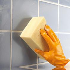 Отмывание плитки в ванной