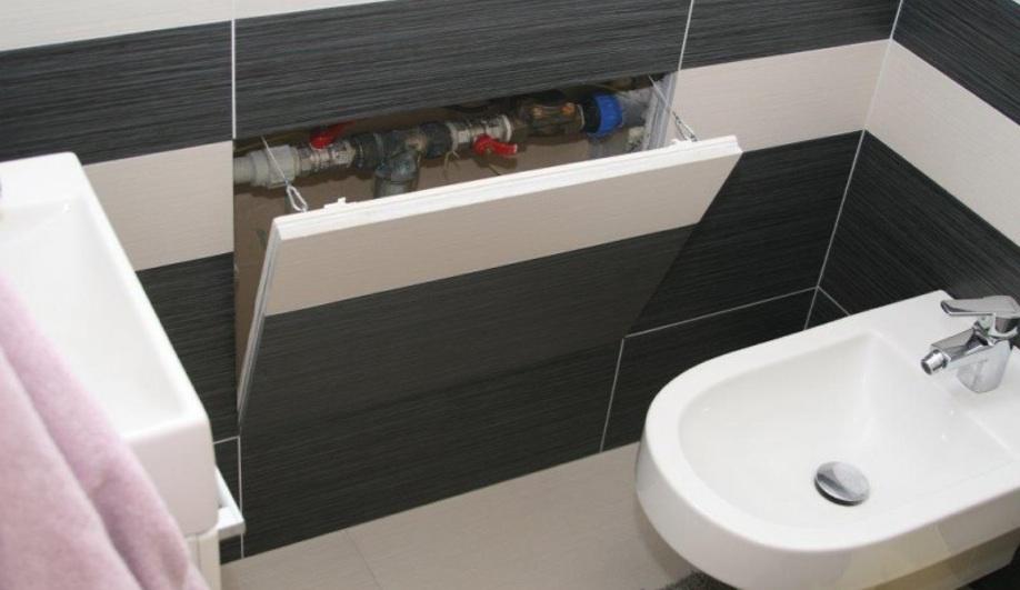 Как сделать люк невидимку в ванной 685