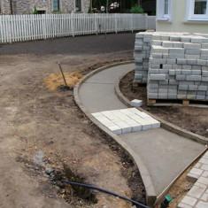Тротуарная плитка на бетонном основании