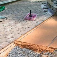 Подготовка основания для тротуарной плитки