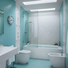 Гармоничная плитка в ванной комнате