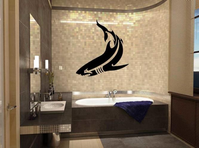Виниловая наклейка в ванной