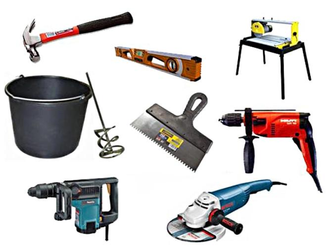 Инструменты и материалы для укладки кафеля
