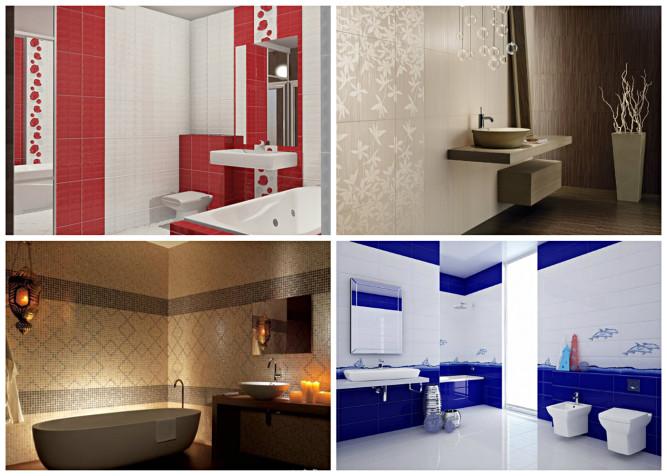 Ванная комната с хорошо подобраной плиткой