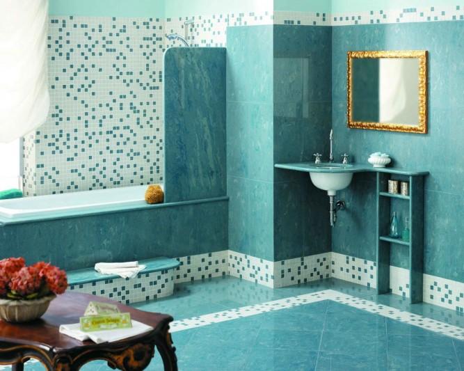 Мозаичный декор в ванной