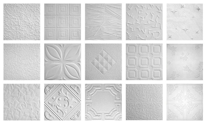 Разновидности потолочной плитки