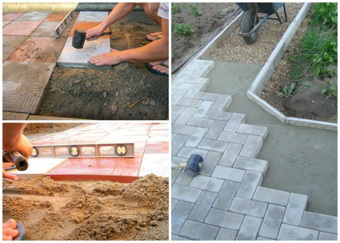 Способы фиксации тротуарной плитки