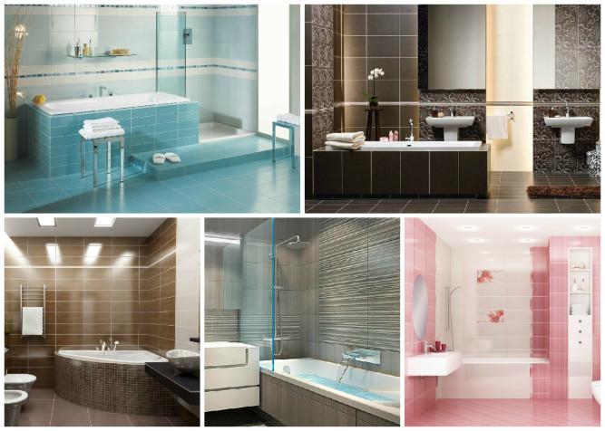 Облицовка плиткой различных поверхностей ванной комнаты