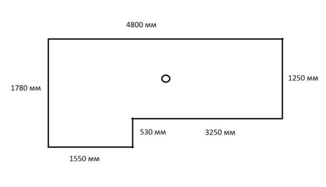Пример замеров потолка