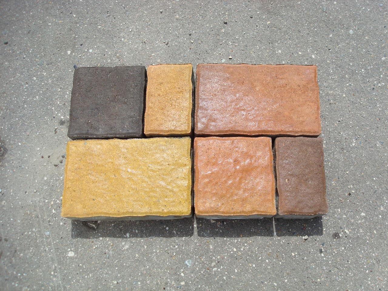 Цветная тротуарная плитка своими 74