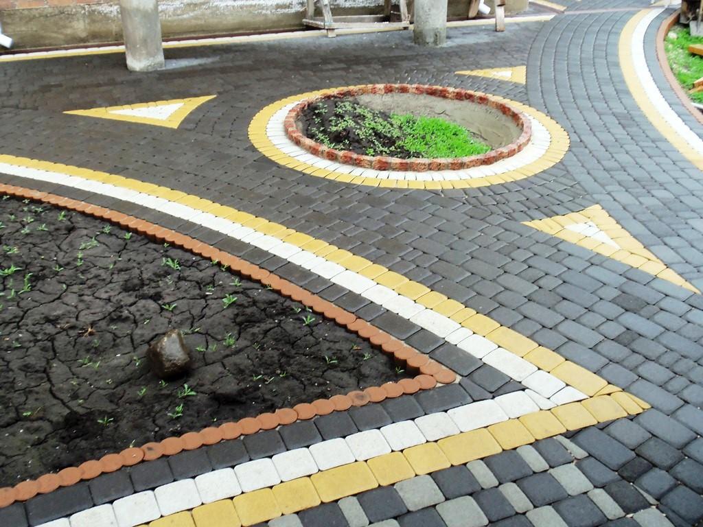 Рисунок тротуарной плитки своими руками