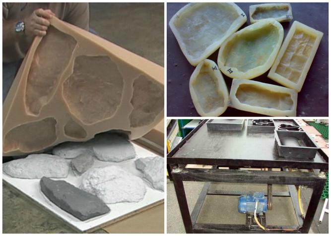 Изготовление искусственного камня из бетона