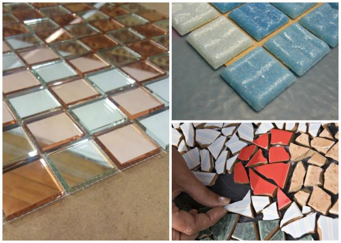 Способы крепления мозаики