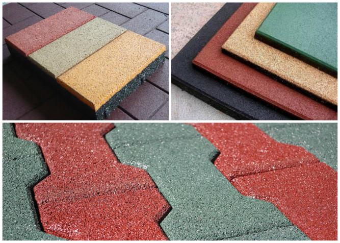 Формы плитки из резиновой крошки
