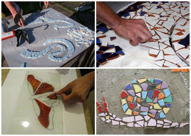 Изготовление мозаичной плитки своими руками 26