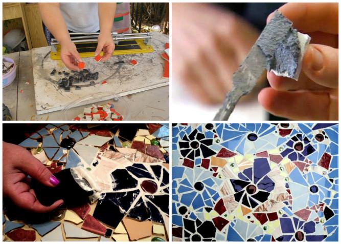 Этапы создания мозаики