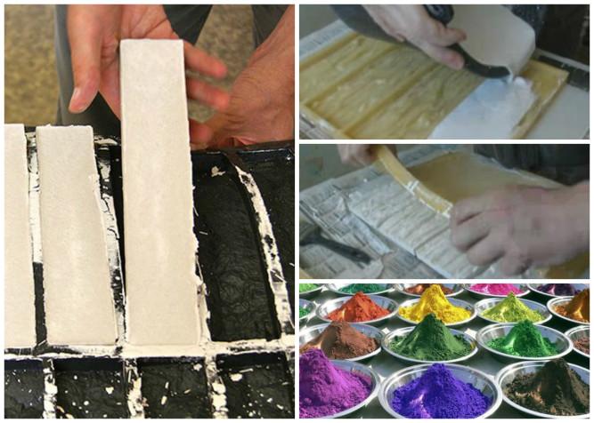 Изготовление цветной фасадной плитки