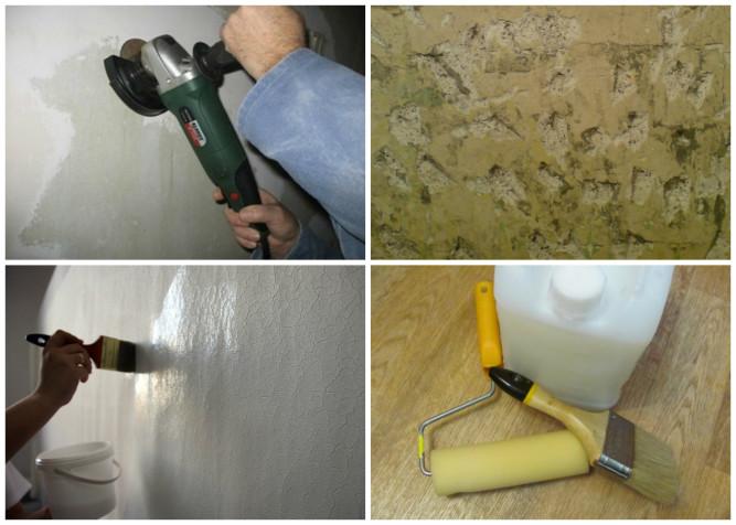 Этапы подготовки поверхности с масляной краской