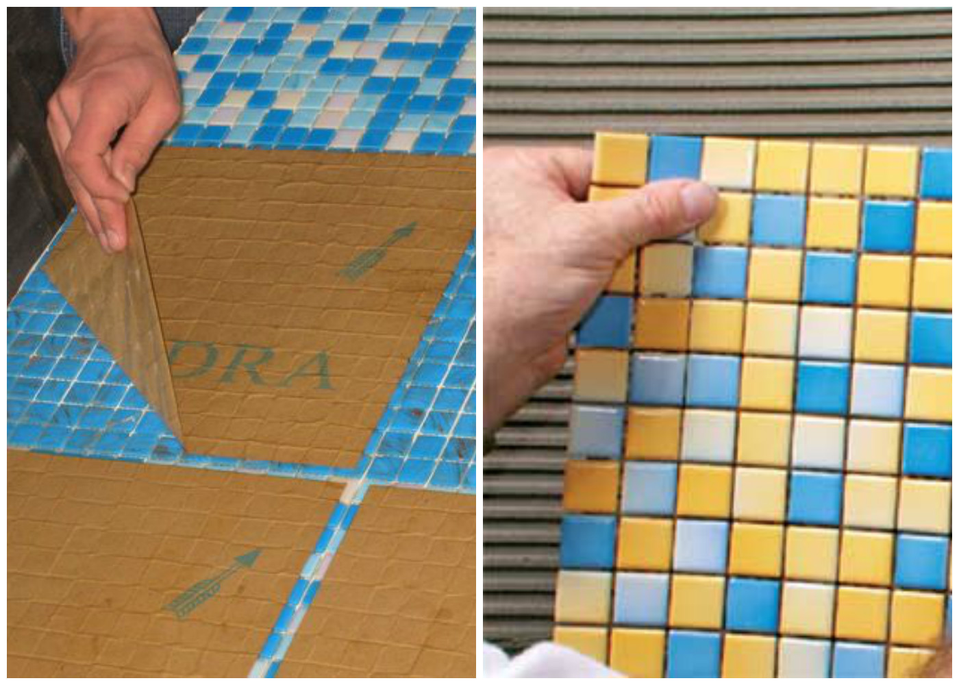 Как класть мозаику