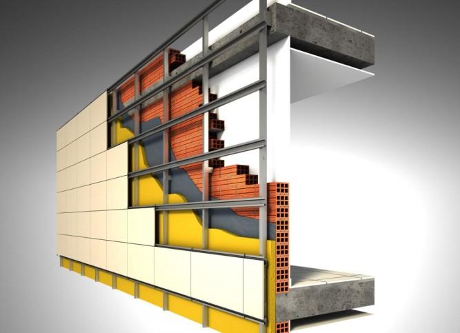 Вентилируемый фасад под клинкерную плитку и керамогранит