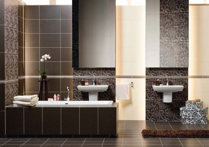Tile in the bathroom