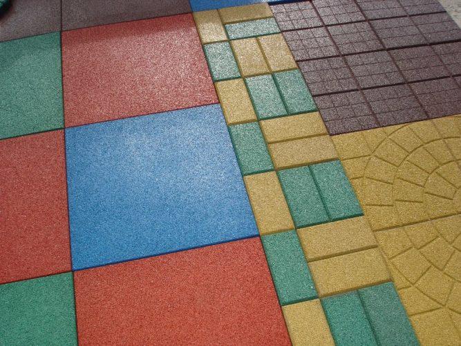 Разнообразие форм для изготовления плитки из резиновой крошки