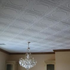 Потолочная плитка по диагонали